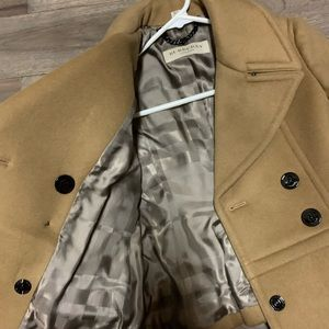 Camel Burberry jacket, great condition.